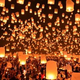 Go to the Floating Lantern Festival, Thailand - Bucket List Ideas