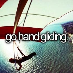 Go Hand Gliding - Bucket List Ideas