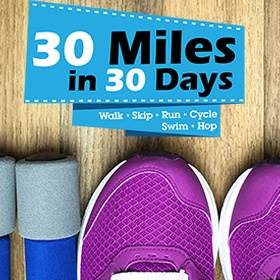 Complete a 30 Miles in 30 Days Challenge - Bucket List Ideas