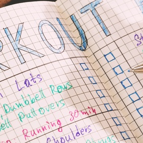 Make a workout plan and stick to it - Bucket List Ideas