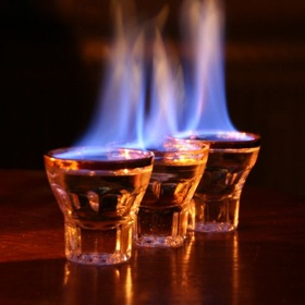 Try a flaming shot - Bucket List Ideas