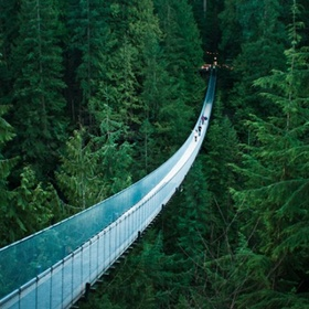 Walk across suspension bridge (Capilano bridge, Canada) - Bucket List Ideas