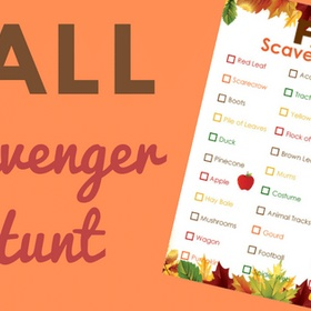 Complete a Fall Photo Scavenger Hunt - Bucket List Ideas