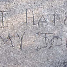 Write something in wet cement - Bucket List Ideas