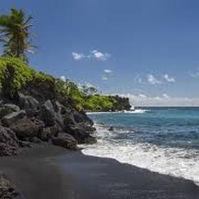 Walk on black sand beach - Bucket List Ideas