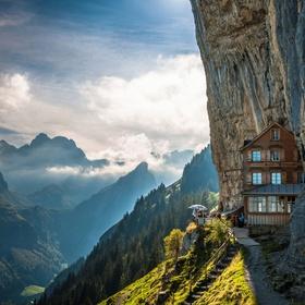 Eat Roeschti at the Aescher Cliff Restaurant in Appenzell - Bucket List Ideas