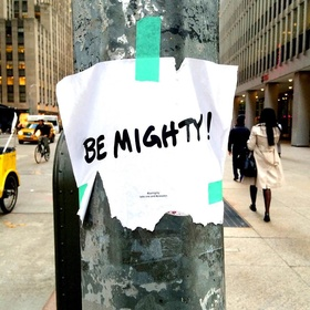Leave 50 inspirational messages on public places - Bucket List Ideas