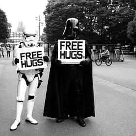 "Give ""free hugs"" to strangers wearing a costume - Bucket List Ideas"