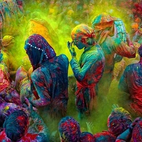 Participate in 'Color festival (Holi) - Bucket List Ideas