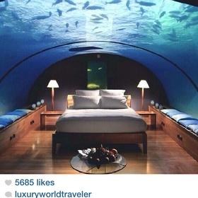 Visit the Maldives- Underwater Suite- The Conrad Resort - Bucket List Ideas