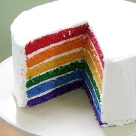 Make a rainbow cake - Bucket List Ideas