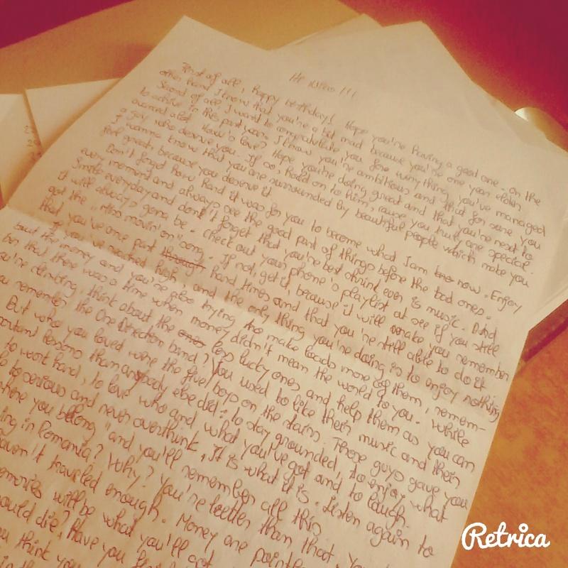 Bucketlist  Write a letter to my future self ficial Bucket List