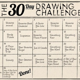 30 day drawing challenge - Bucket List Ideas