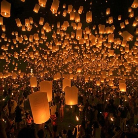 """الذهاب لمهرجان الفانوس المضيء في تايوان  """" Go to the Lampioanelor Flying Lantern Festival in Taiwan """" - Bucket List Ideas"""