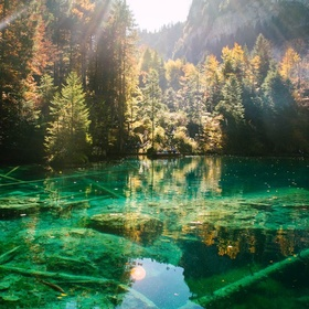 Visit Lake Blausee. Switzerland - Bucket List Ideas