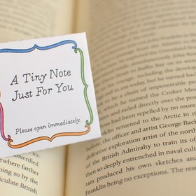Leave a Note Inside a Book for Someone to Find - Bucket List Ideas