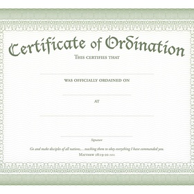 Become Ordained - Bucket List Ideas