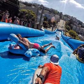 Slip and slide in San Fran - Bucket List Ideas
