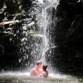Kiss in a Cave Underneath a Waterfall - Bucket List Ideas
