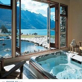 "Go to New Zealand- ""The blanket Bay Resort"" in Glenorchy, NZ - Bucket List Ideas"