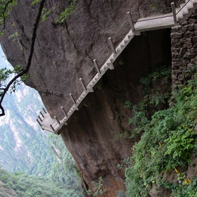 Climb a mountain in China with those crazy cliff paths - Bucket List Ideas