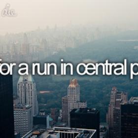 Go For a Run in Central Park - Bucket List Ideas