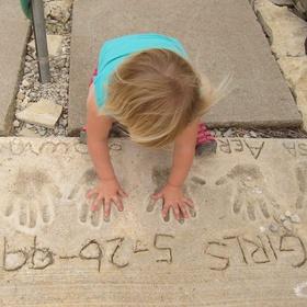 Put my handprint in wet cement - Bucket List Ideas