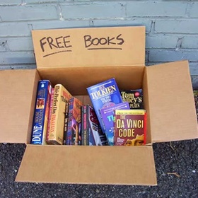 Donate unwanted books - Bucket List Ideas