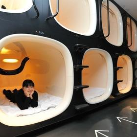 Stay at a capsule hotel in Japan - Bucket List Ideas