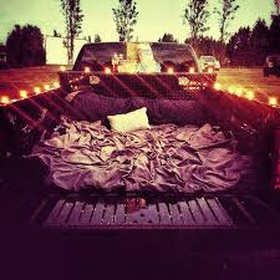 A cute date with a mattress in the back of a ute under the stars - Bucket List Ideas