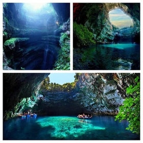 Row a Boat on Lake Melissani in  the Island of Kefalonia Greece - Bucket List Ideas
