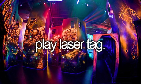 Play Laser Tag - Bucket List Ideas