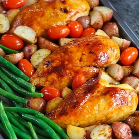 Make chicken, tiny potatoes and green beans for Thanksgiving - Bucket List Ideas