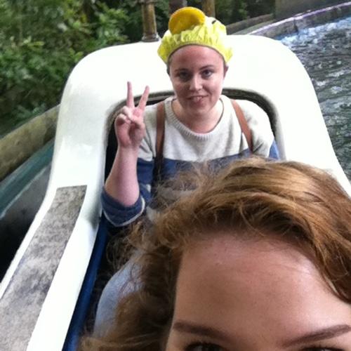 Wear a shower cap on a water ride in a theme park - Bucket List Ideas