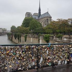 Add a love padlock to the lock bridge in paris - Bucket List Ideas