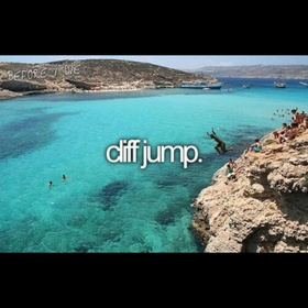 Jumped off a cliff into water - Bucket List Ideas