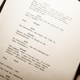 Create a screenplay for a show - Bucket List Ideas
