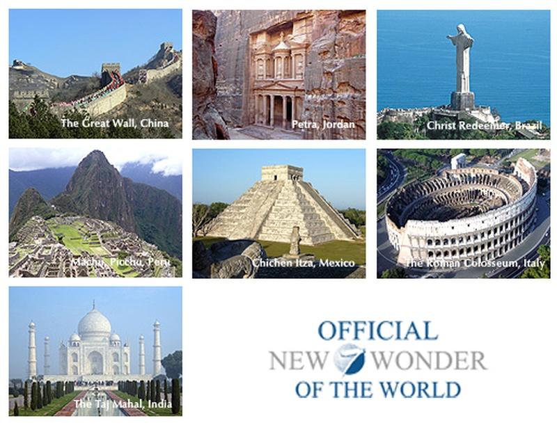 bucketlist see the 7 wonders of the world official bucket list