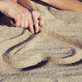 Draw a Heart in Sand with You - Bucket List Ideas