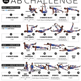 Complete a 30 Day Abs Challenge - Bucket List Ideas