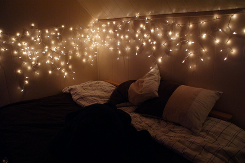 christmas lights in room ideas